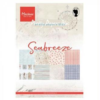 Bloc papier imprimé Marianne Design - collection seabreeze - 15x20