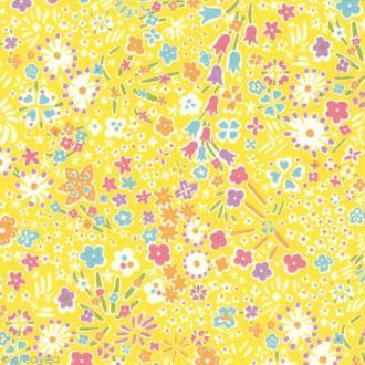 Tissu Liberty Kayoko jaune - 3039 C - Par 10 cm (sur mesure)