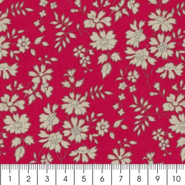 Tissu Liberty Capel rouge - 3055 F - Par 10 cm (sur mesure) - Photo n°2