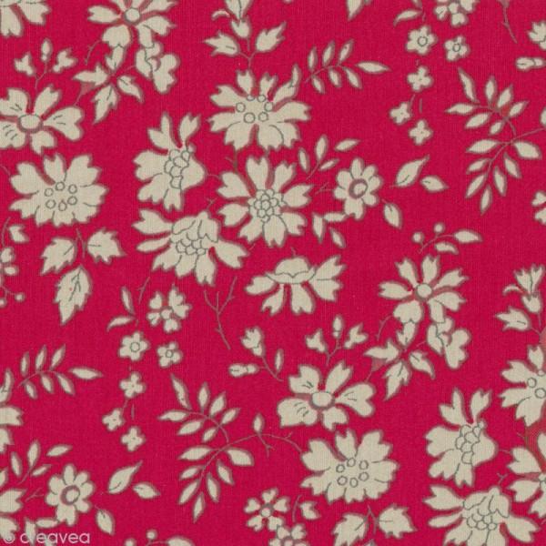 Tissu Liberty Capel rouge - 3055 F - Par 10 cm (sur mesure) - Photo n°1