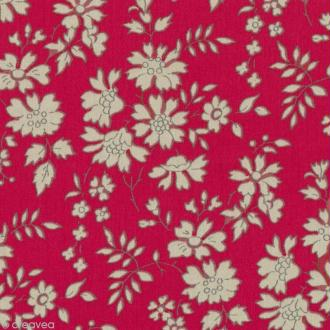 Tissu Liberty Capel rouge - 3055 F - Par 10 cm (sur mesure)