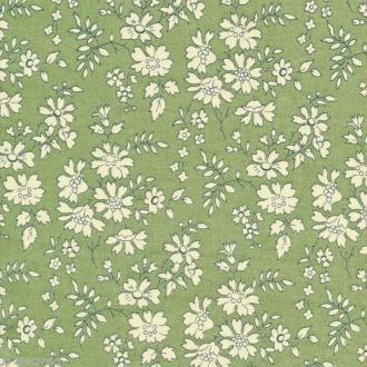 Tissu Liberty Capel vert - 3055 L - Par 10 cm (sur mesure)
