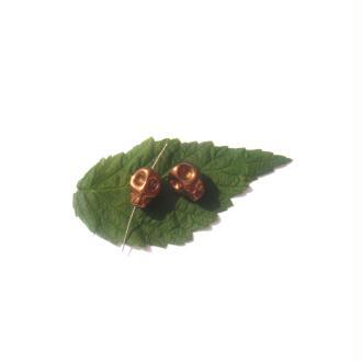 Hématite teintée : 2 Perles