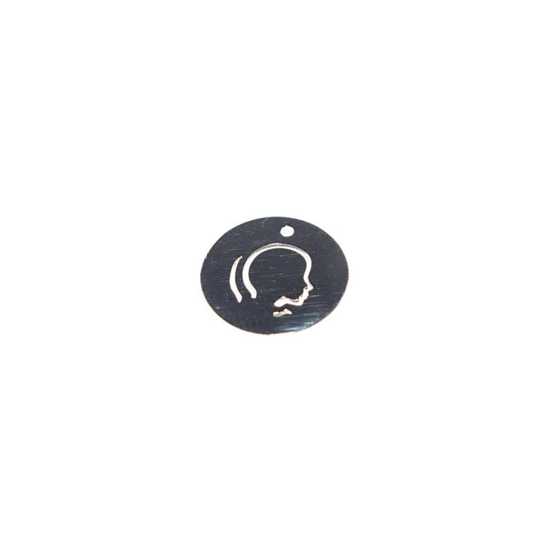 signe astrologique g meaux plaqu argent rond 14 mm breloque symbole creavea. Black Bedroom Furniture Sets. Home Design Ideas
