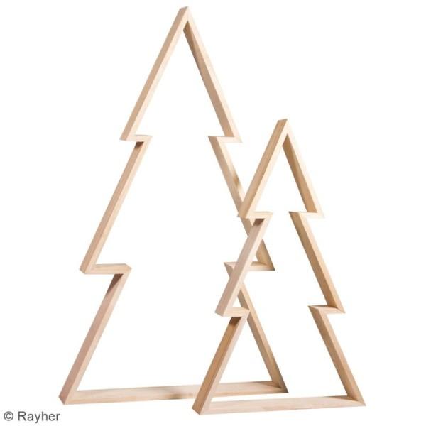Lot de cadres en bois à décorer - Sapin - 30 x 49,5 cm et 22 x 36 cm - 2 pcs - Photo n°3