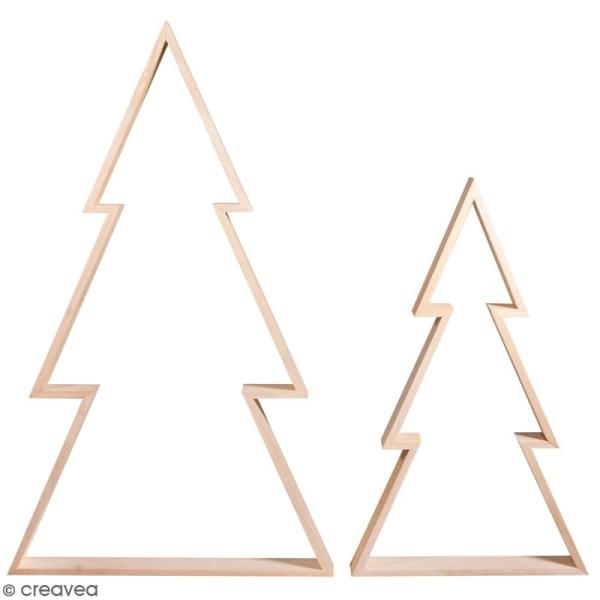 Lot de cadres en bois à décorer - Sapin - 30 x 49,5 cm et 22 x 36 cm - 2 pcs - Photo n°1