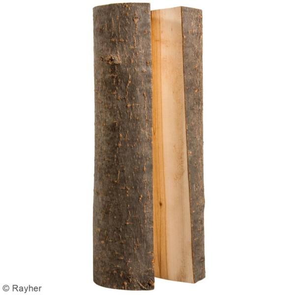 Demi bûche de bois décorative - 23 x 7 x 4 cm - 2 pcs - Photo n°3