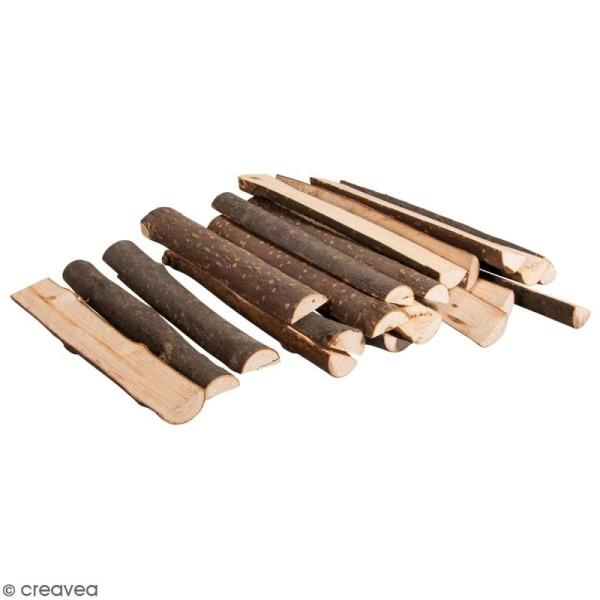 Demi branches de bois décoratives - 10 à 12 cm - 20 pcs - Photo n°1