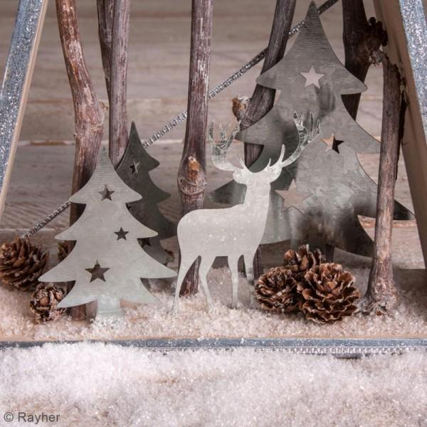 Silhouette en métal décorative - Sapins et cerf - 5 à 8,5 cm - Photo n°2