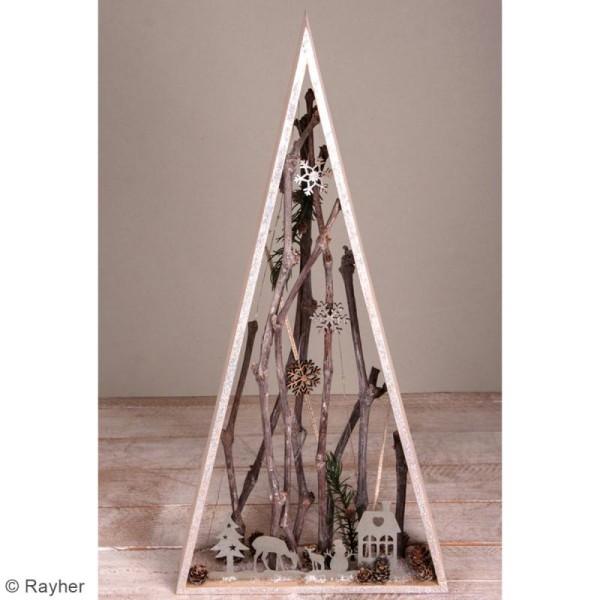 Silhouette en métal décorative - Paysage hivernal - 19 x 8 cm - Photo n°2