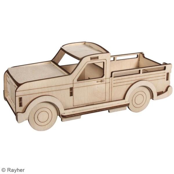 Kit Camionnette 3D en bois à monter - 21 x 8 x 8 cm - Photo n°2