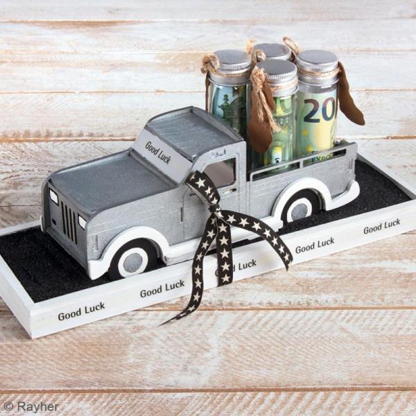 Kit Camionnette 3D en bois à monter - 21 x 8 x 8 cm - Photo n°3