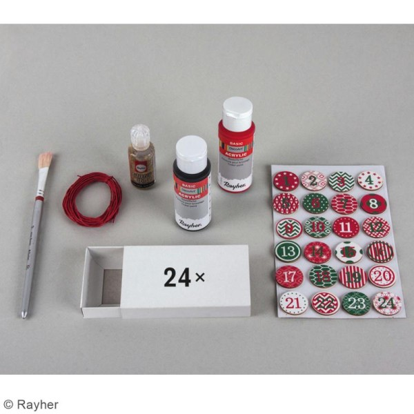 Kit Calendrier de l'avent - 30 pcs - Photo n°3