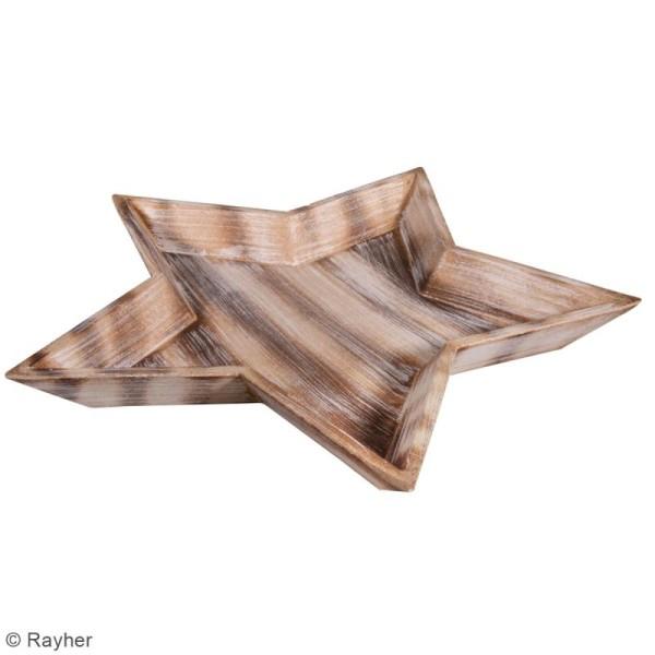 Plateau décoratif en bois - Etoile - 42 cm - Photo n°3