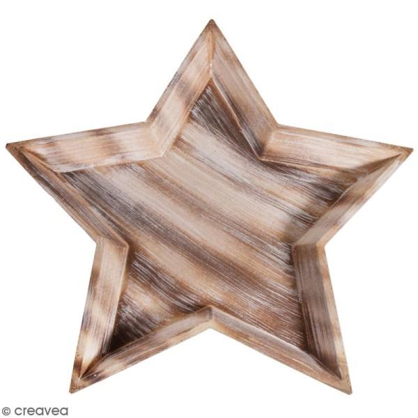 Plateau décoratif en bois - Etoile - 42 cm - Photo n°1