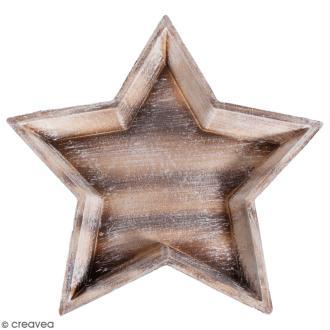 Plateau décoratif en bois - Etoile - 32,5 cm