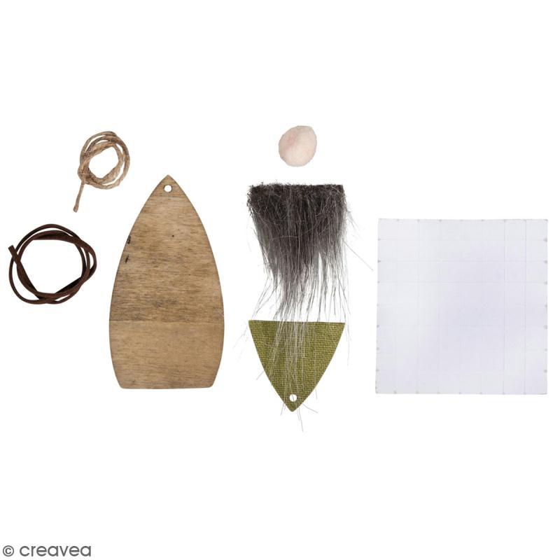 kit cr atif gnome de no l suspendre 3 pcs support d co no l creavea. Black Bedroom Furniture Sets. Home Design Ideas