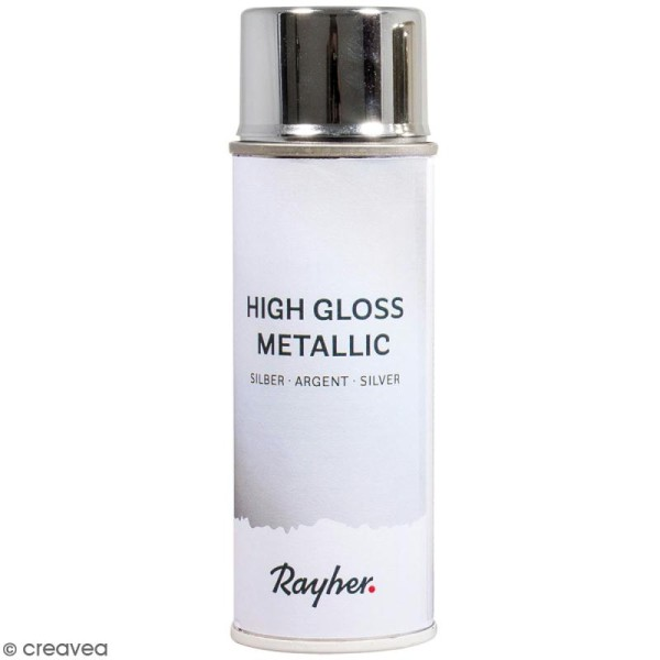 Bombe de peinture High gloss métallique - Argenté - 200 ml - Photo n°1