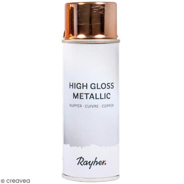 Bombe de peinture High gloss métallique - Cuivré - 200 ml - Photo n°1