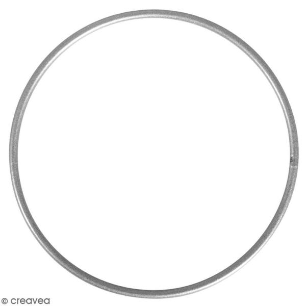 Anneau en métal - Argenté - 20 cm de diamètre - Photo n°1