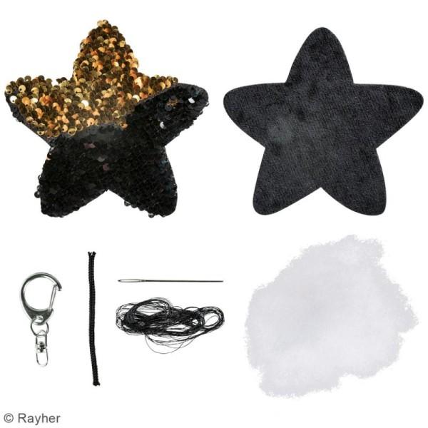 Kit couture - Porte-clés étoile en sequins réversibles - Photo n°3