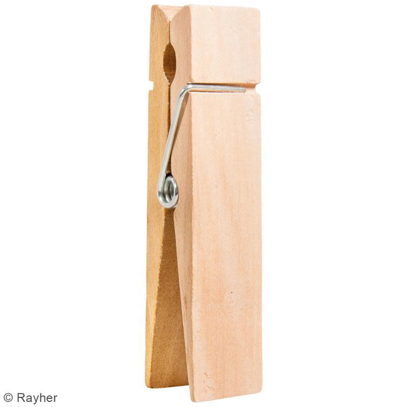 pince linge g ante en bois 3 5 x 15 cm pinces linge bois creavea. Black Bedroom Furniture Sets. Home Design Ideas