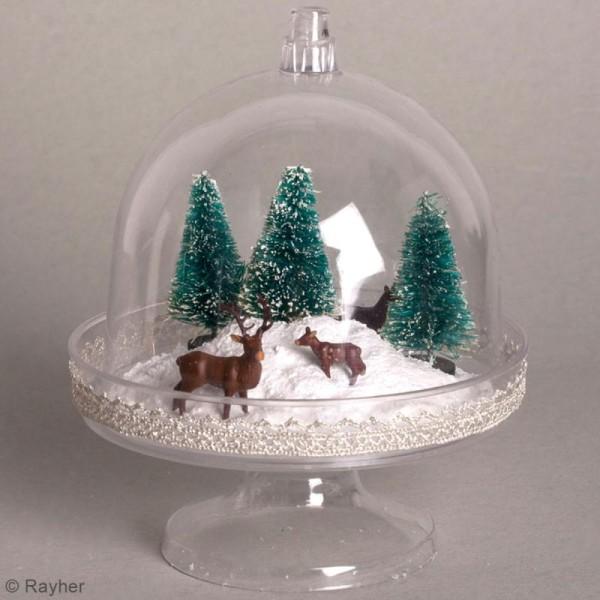 Mini-cloche en plastique avec socle - 9,5 x 11 cm - 4 pcs - Photo n°2