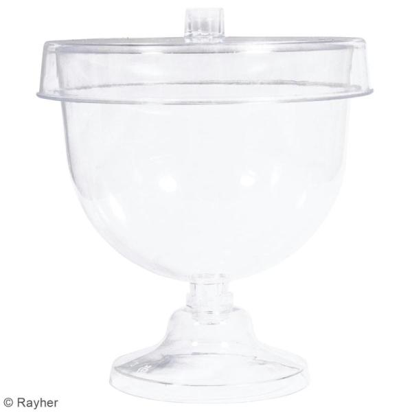 Mini-cloche en plastique avec socle - 9,5 x 11 cm - 4 pcs - Photo n°4