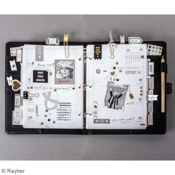Planner A5 à personnaliser - Noir - Photo n°2