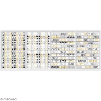 Stickers My planner - Glam - Symboles et événements - 4 planches