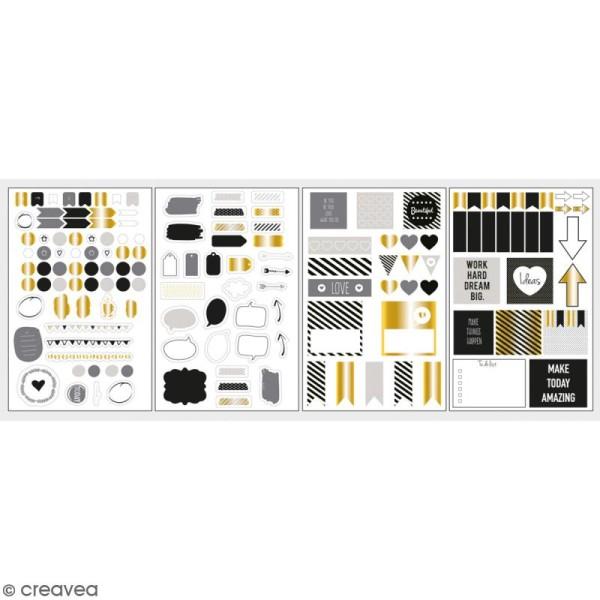 Stickers décoratifs My planner - Glam - 4 planches - Photo n°1