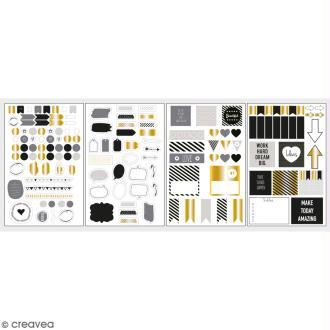 Stickers décoratifs My planner - Glam - 4 planches