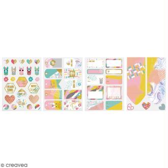 Kit embellissement paquet cadeau - Lama - 13 pcs