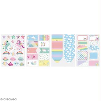 Kit embellissement paquet cadeau - Licorne - 13 pcs