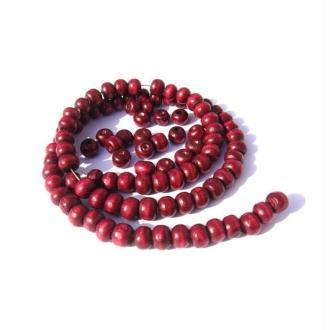 200 perles irrégulières en bois 5 MM x 6 MM couleur Rose Indien