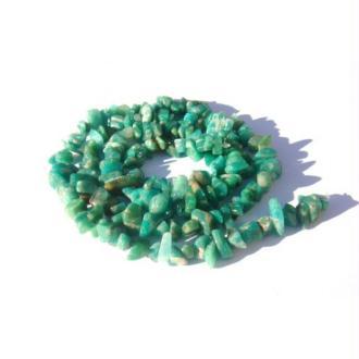 Amazonite de Russie : 20 MINI chips 4/5 MM de diamètre