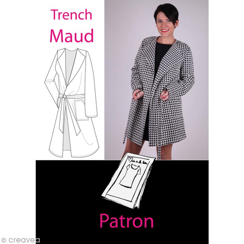 833e525e9 Patron couture femme - Manteau trench Maud - Tailles 38 à 52 - Patron veste  - Creavea