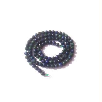 Azurite Chrysocolle réhaussée : 20 perles 4 MM de diamètre