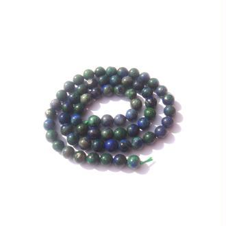Azurite Chrysocolle réhaussée : 10 perles 6 MM de diamètre