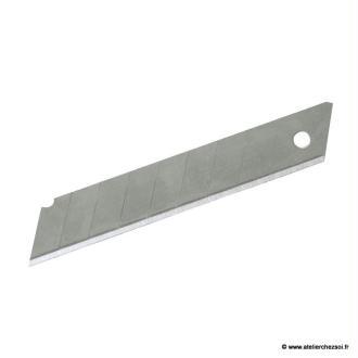 10 Lames de cutter 18 mm standard sécables