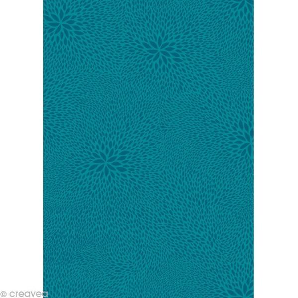 Décopatch Bleu 651 - 1 feuille - Photo n°1