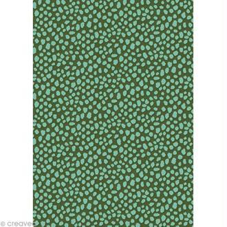 Décopatch Vert et bleu 662 - 1 feuille