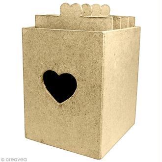 Boîte recettes 15 x 13 cm à décorer