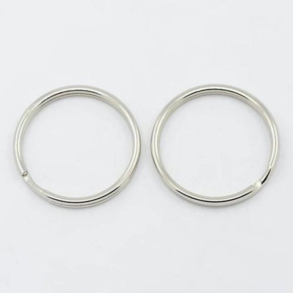 Lot de 20 anneaux m/étalliques 25,4 cm