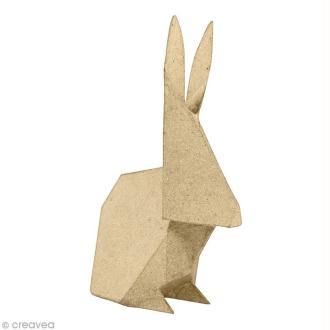 Lapin origami 19 cm à décorer