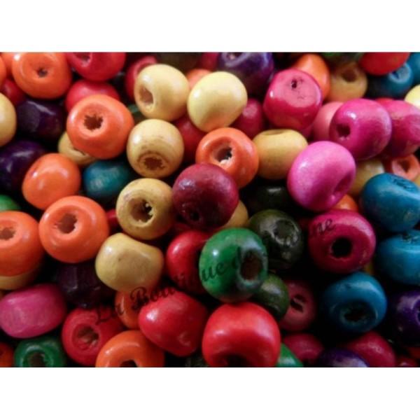 300  Perles goutte bois
