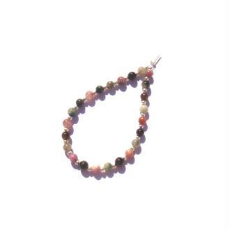 Tourmaline Multicolore : 24 perles irrégulières 4 MM de diamètre environ