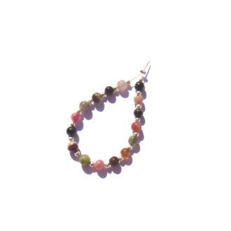 Tourmaline Multicolore : 16 perles irrégulières 4 MM de diamètre environ ( B )