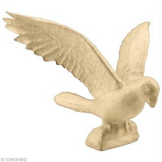 Perroquet ailes ouvertes 35 cm à décorer