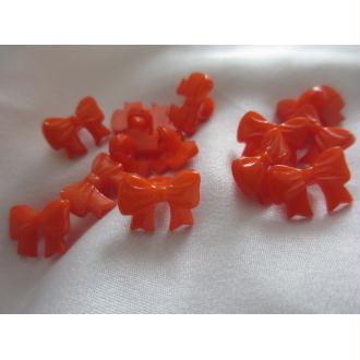 Bouton noeuds,oranges, en plastique,10 pces